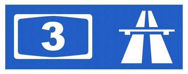 A3-Symbol mit Reflektierung