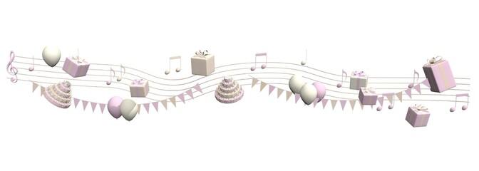 Feestelijke muziek voor een meisje