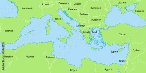 mittelmeerinseln karte Landkarte Mittelmeerinseln | Deutschland Karte mittelmeerinseln karte
