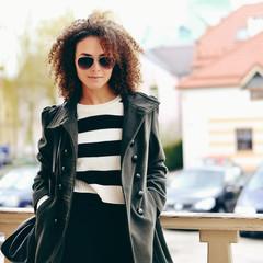 Woman in sunglasses outdoor fashion portrait