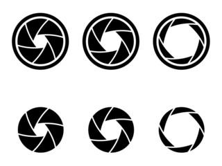 Aperture Kamera Auslöser Blende Symbole Icon
