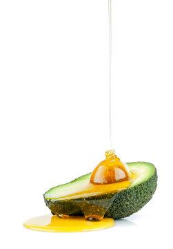 Avocado Öl isoliert Essen Ernährung gesund