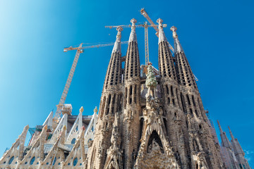 Basilica  of the Holy Family (Sagrada Familia). Barcelona