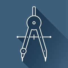 Vector flat  compasses icon isolated outline. Eps10