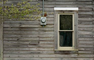 Window Of A Wooden Cabin