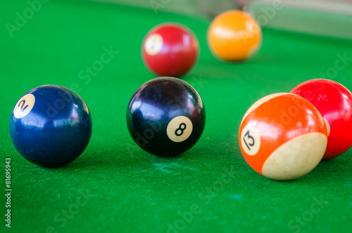 Wall mural Billiard balls