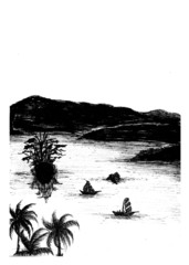 Lake drawing