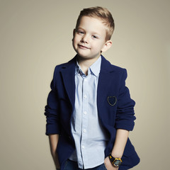 fashionable little boy.stylish child in suit