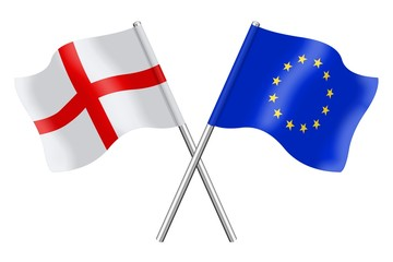 Flags : England and Europe