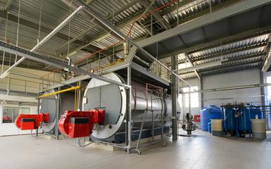 Gas boiler-house