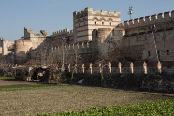 ancient city walls, Istanbul