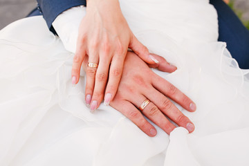 hands and rings on wedding.hold me, trust me, marry me today