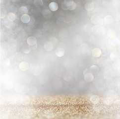 abstract image of glitter vintage lights background with light b