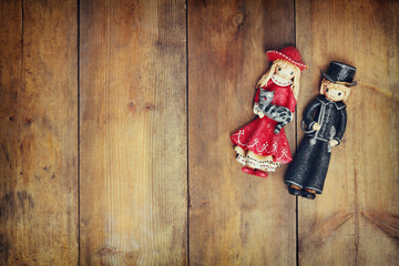 A beautiful vintage old pair dolls