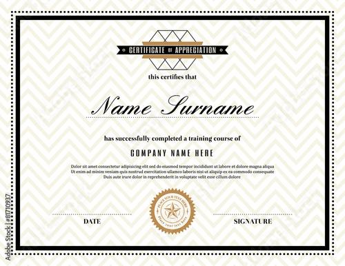 Retro frame certificate of appreciation template stock image and retro frame certificate of appreciation template yadclub Choice Image
