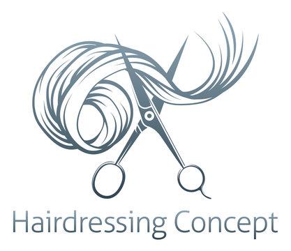 Hairdressers Scissors Concept
