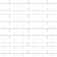 Abstract seamless white flat brick wall