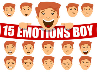 Emotions on the boy face