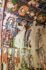 Fresco in cave orthodox church El Nazar, Cappadocia, Turkey