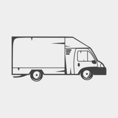 Truck monochrome icon