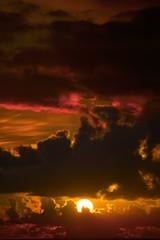 dark moody orange sunset sky