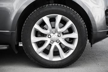 Modern automotive wheel on light alloy disc Wall mural