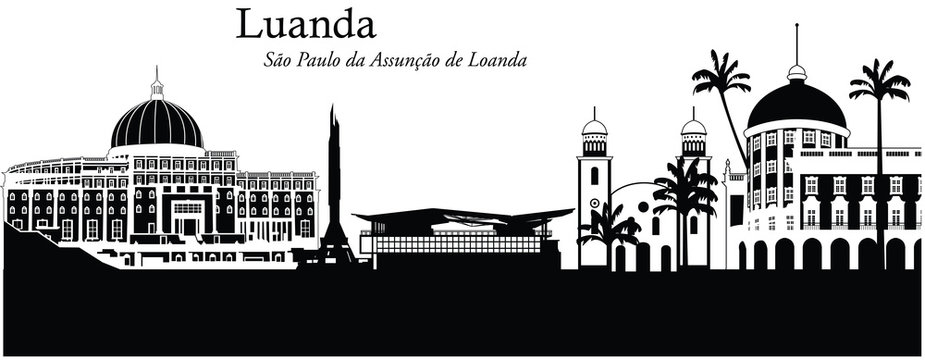 Vector illustration of the skyline / cityscape of Luanda, Angol