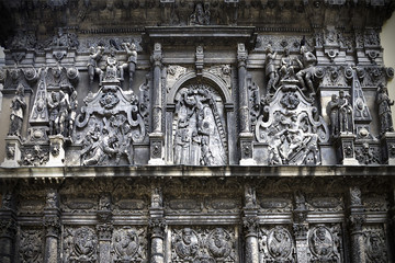 fragment of bas-relief chapel Boim in Lviv, Ukraine