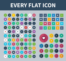 Flat design icons for web and mobile design