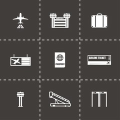 Vector Airport icon set