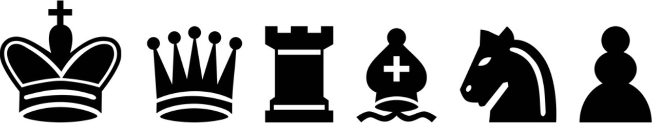 Detailed chess icons