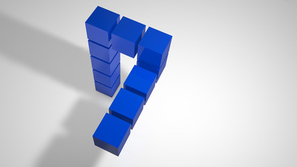 3d logo blue cubes