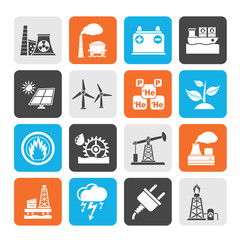 Silhouette Electricity and Energy source icons