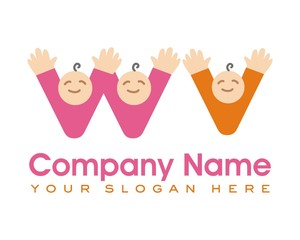 kids child logo image vector