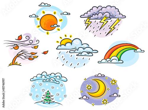 Погода в рисованных картинках