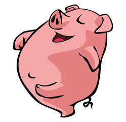 pig walking