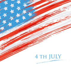 Flag of the USA (United States of America). Grunge background