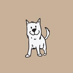 Dog white cartoon
