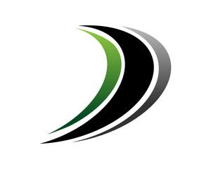 D swoosh logo