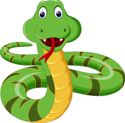 Illustration of Cartoon Snake