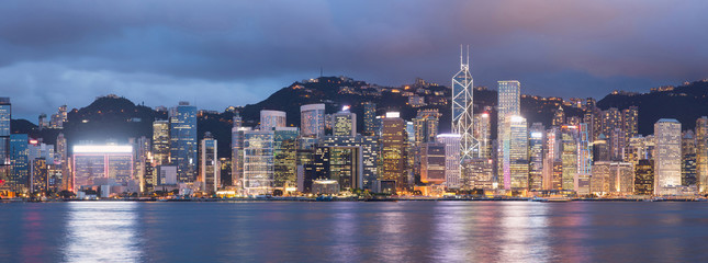 Wall Murals Hong-Kong Hong Kong skyline at night