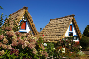 The traditional house of farmer at Santana at Madeira Island(Por