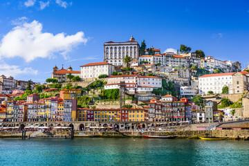Fotomurales - Porto, Portugal Cityscape on the Douro River