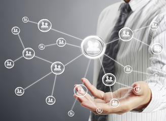 social network structure in hand