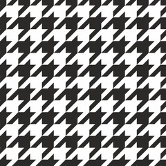Houndstooth tile black and white pattern or vector background