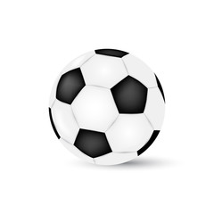 Soccer ball isolated on white background. Football