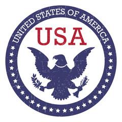 Grunge round stamp of United States of America - USA