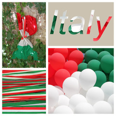 festive italian colors collage