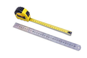 Tape measure and ruler