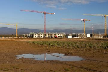 Baustelle Neubaugebiet